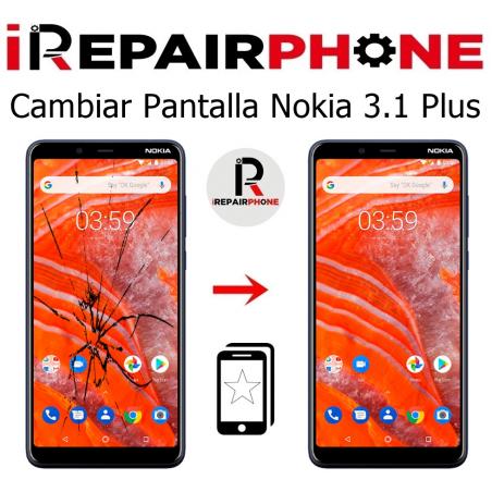Cambiar pantalla Nokia 3.1 Plus