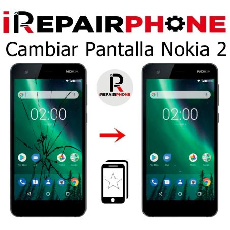 Cambiar pantalla Nokia 2