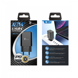 LT PLUS A8574 CARGADOR POWER DELIVERY SIN CABLE 18W NEGRO