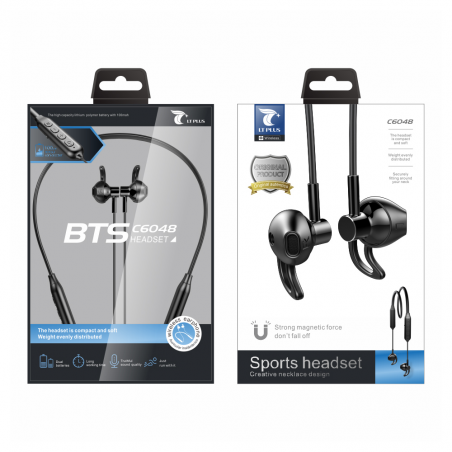 LT PLUS C6048 STEREO SPORTS BTS AURICULARES NEGRO