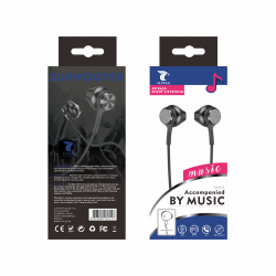 LT PLUS C6012 AURICULARES IN-EAR CON MICROFONO 3.5MM NEGRO