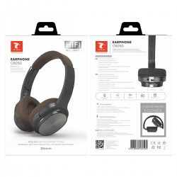LT PLUS C6050 CASCO AURICULAR INALÁMBRICO BLUETOOTH 4.2 CON FM TF MICRO SD NEGRO