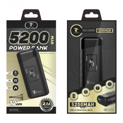 LT PLUS D5001 POWER BANK 5.200MAH 2.1A NEGRO