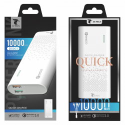 LT PLUS D5003 POWER BANK 10000MAH BLANCO