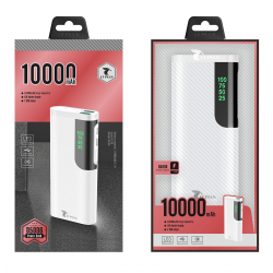 LT PLUS D5006 POWER BANK ULTRA DELGADO 10.000MAH BLANCO