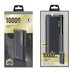 LT PLUS D5006 POWER BANK ULTRA DELGADO 10.000MAH NEGRO
