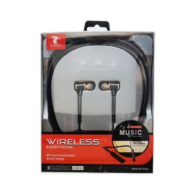 LT PLUS C6032 STEREO SPORTS BTS AURICULARES NEGRO