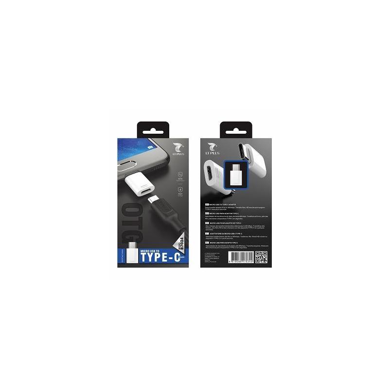 LT PLUS B7034 ADAPTADOR MICRO USB TO TYPE-C BLANCO