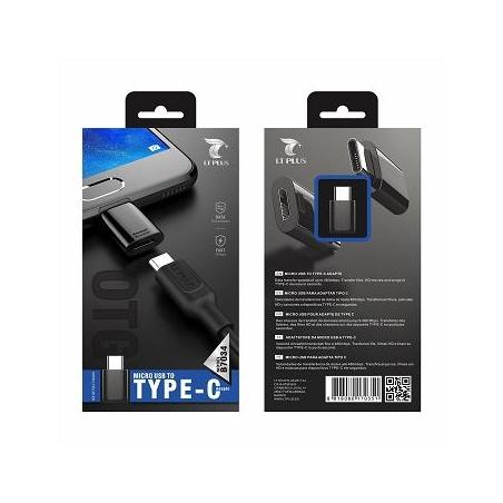 LT PLUS B7034 ADAPTADOR MICRO USB TO TYPE-C NEGRO
