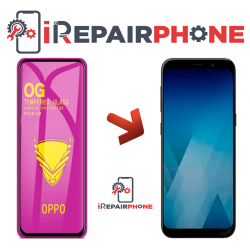Protector de cristal templado Samsung A8 Plus 2018